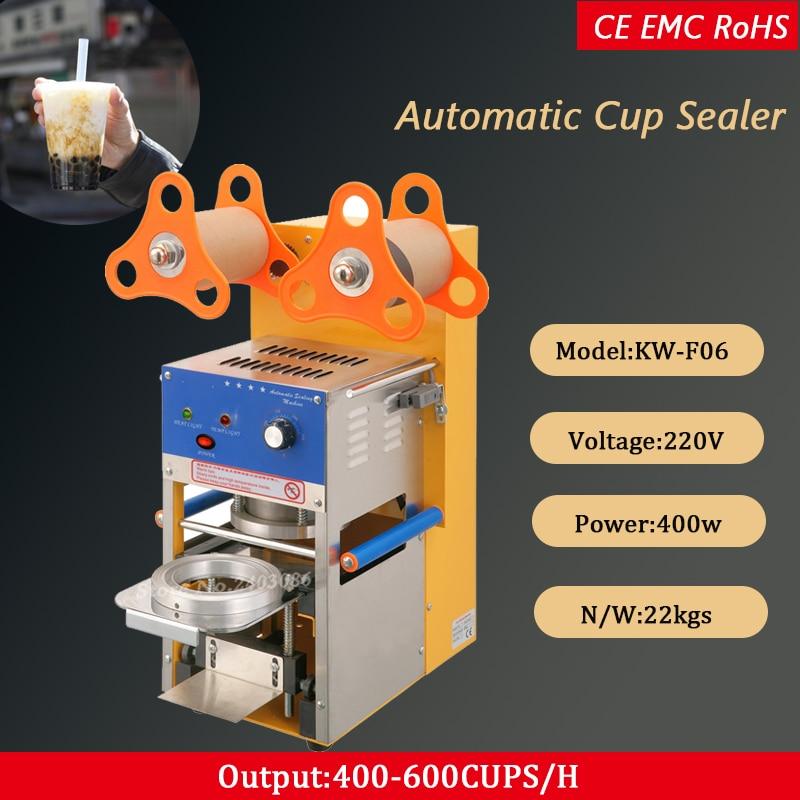 Автоматическая пузырьковая чайная чашка запайки 110 В/220 В 400 600Cups/ч фруктовый сок запечатывание пластиковых стаканчиков