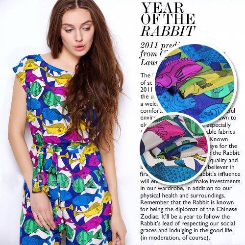 La couleur de la marque de saumon de tissu en soie imprimé en gros tissu de vêtements en soie de haute qualité