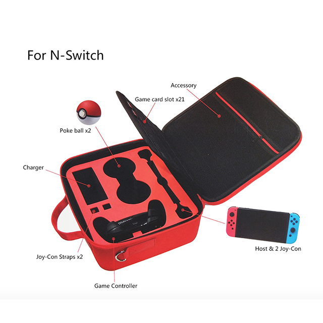 Image 5 - new product storage Bag for Switch poke ball protective case for Nintendo Switch controller red color-in Replacement Parts & Accessories from Consumer Electronics