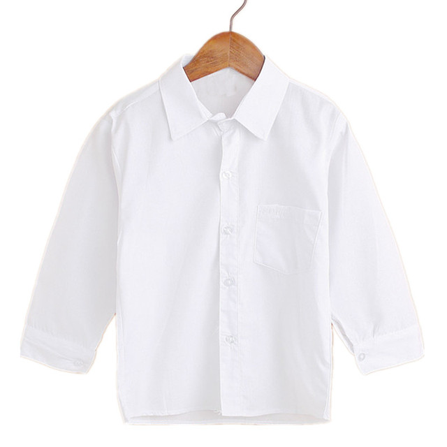86f53f79247e Kids white long sleeve shirts children's undergarments new gentleman party  clothes banquet underclothes student costume Anti-UV