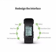 Hesvit g1 bluetooth 4.0 смарт браслет часы сердечного ритма трекер температуры кожи монитор вызова напоминание браслет для andriod ios