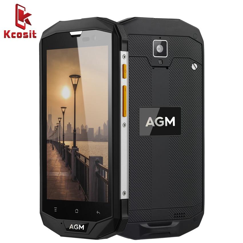 "Original AGM A8 SE IP68 Waterproof Mobile Phone 5.0""HD 4GB RAM 64GB ROM Qualcomm MSM8916 Quad Core 13.0MP 4050mAh NFC OTG"