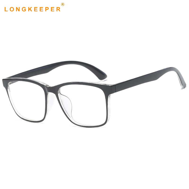 437198630e06e LongKeeper Ultra Light Computador TR90 Armações de Óculos Óculos de Armação  Homens Mulheres Praça Limpar Lens