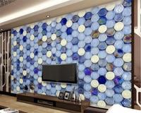 Custom High Fresco Wallpapers European Art Tiles Mosaic Living Room Tv Wall Background Wall Papel De