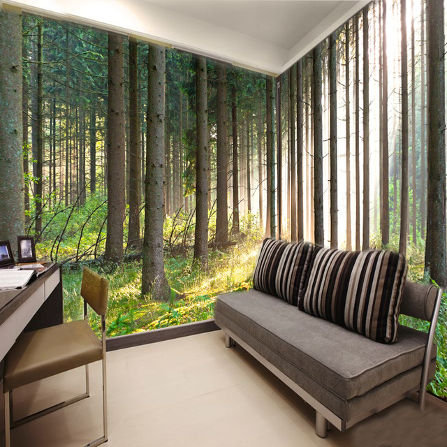 Buy free shipping 3d wallpaper nature for Nature room wallpaper