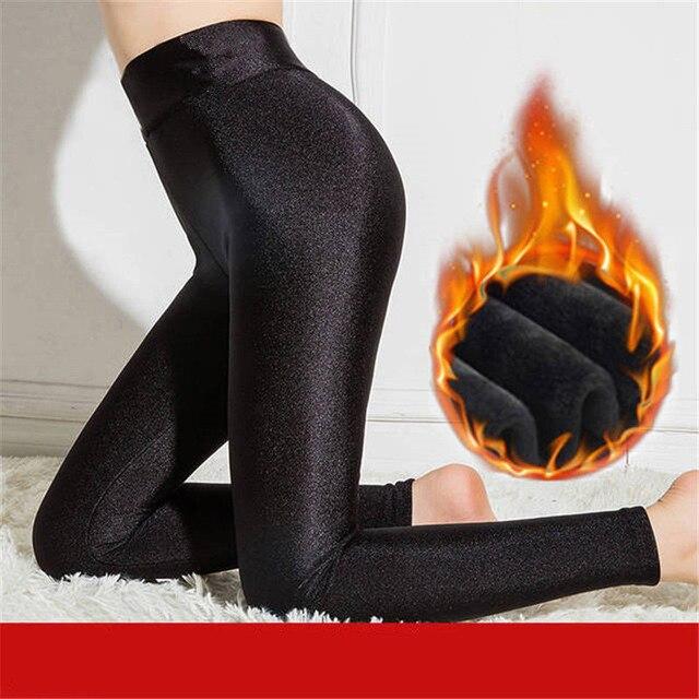 Warm Leggings Women High Waist Winter Velvet Legging Female Solid Large Size Autumn Leggings