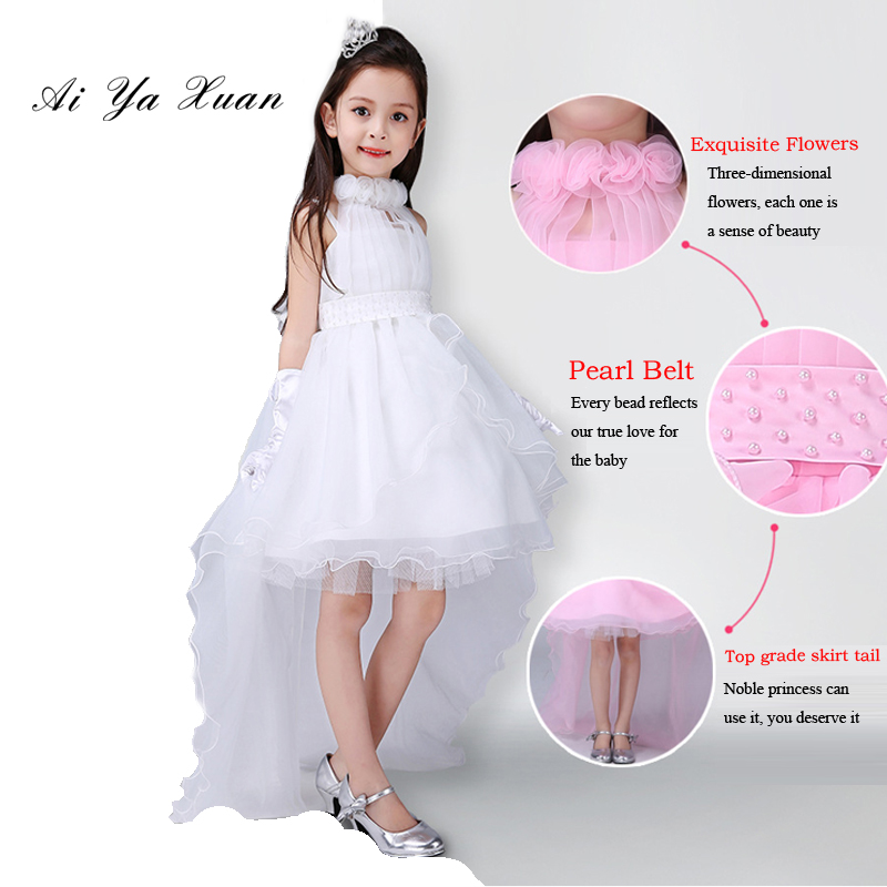 AiYaxuan Girl Dress Summer Clothes Girl 2017 Baby Girl Wedding Veil Dresses Kids's Party Wear Costume For Girl Children Clothing
