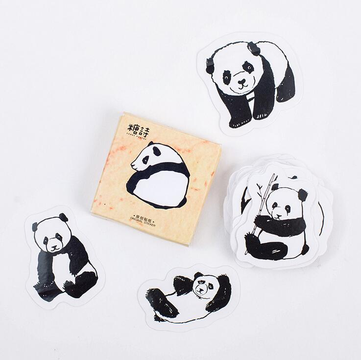 Lovely Panda Animals Stickers Adhesive Stickers DIY Decoration Stickers
