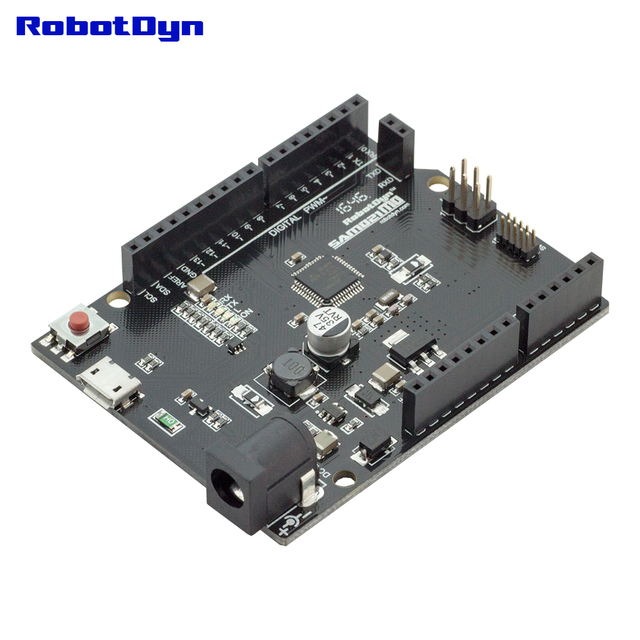 SAMD21 M0. 32-bit ARM Cortex M0 core. Kompatibel mit Arduino Null, Arduino M0. Form R3.