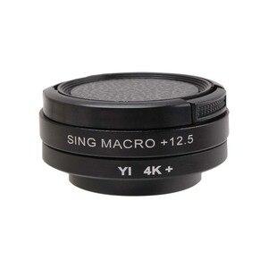 Image 4 - CAENBOO Super Macro Close Up Lens Filters Voor XiaoMi Yi 4 K/II/Lite/+ Plus 12.5X Filter Sport Action Camera Yi 4 K + CCTV 37mm Cap