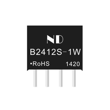 5pcs new dc dc step-down converter 24V to 12V 1W isolated dcdc power module quality goods