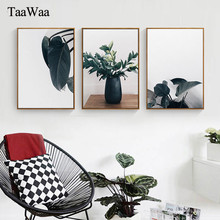 TAAWAA Nordic Vintage Green Plants Retro Canvas Poster and Print Wall Art Picture For Living Room Decoration Home Decor