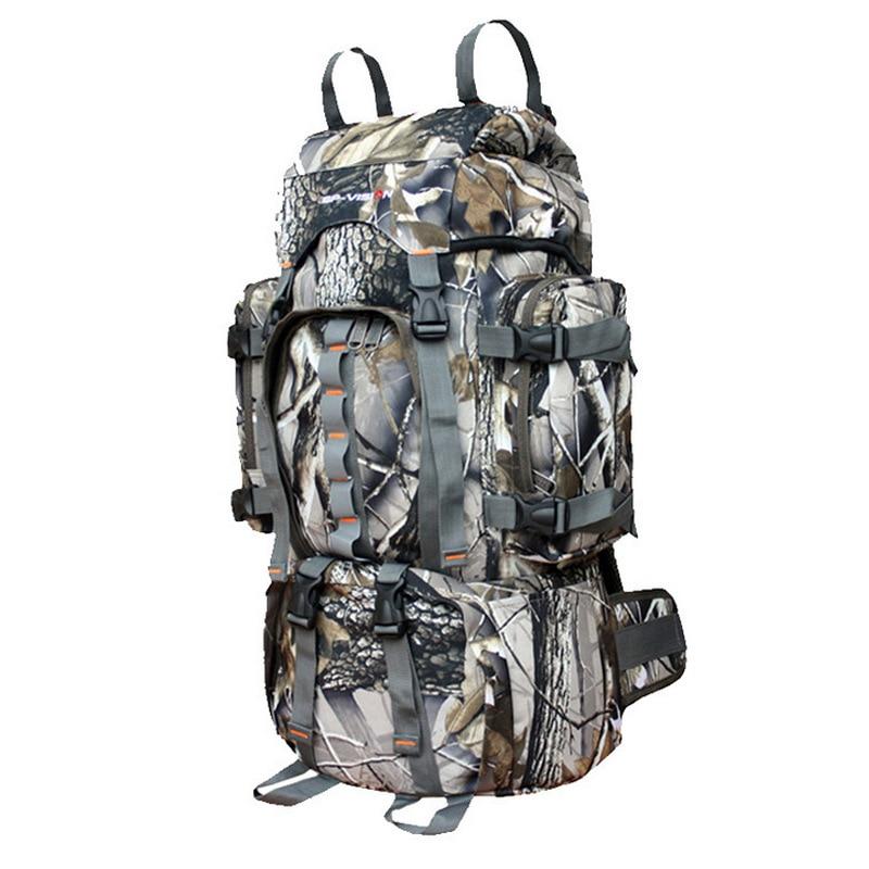 60L Army Men Women Outdoor Military Tactical Camo Backpack Camping Hiking Rifle Bag Trekking Rucksacks Climbing