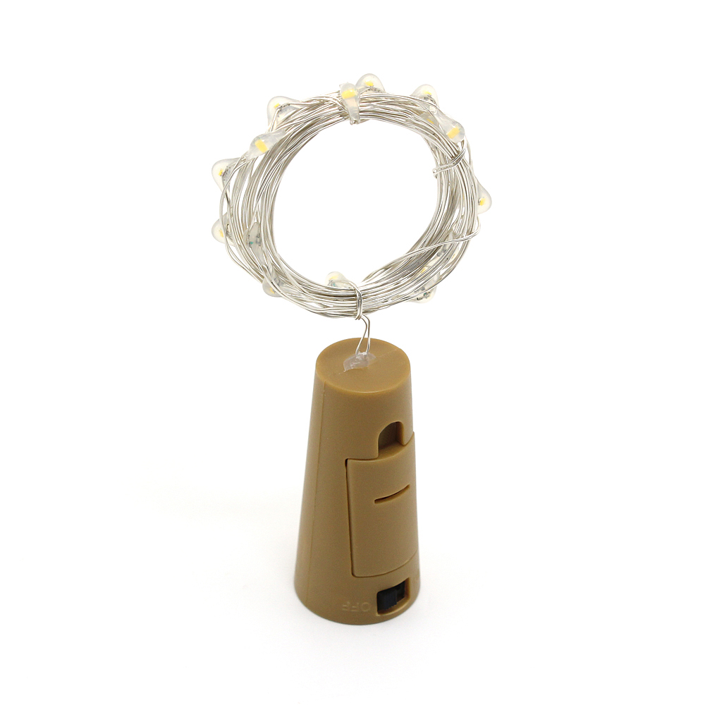 Anblub 1 м 2 м серебристый Провода гирлянды бутылки Фиксаторы для Стекло корабль Фея Валентина свадебные Рождество украшения светодиодные строки огни