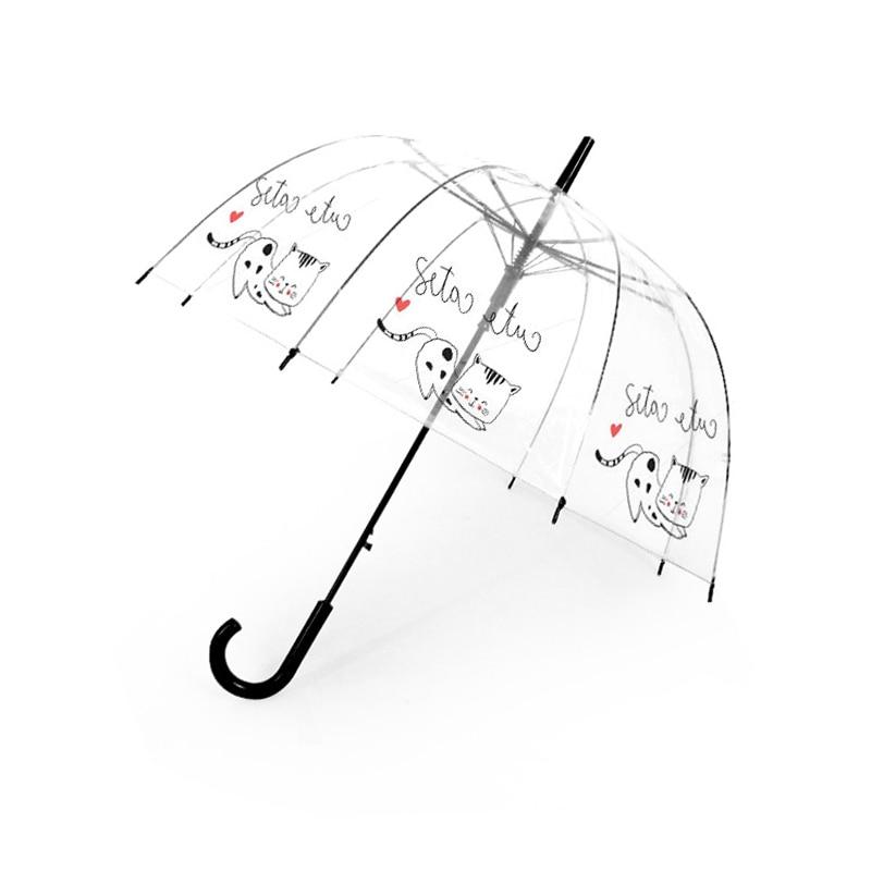 SAFEBET Children Umbrella Cute Unicorn Umbrellas Cartoon Transparent Umbrella Kids Semi Automatic Apollo Umbrellas Dropshipping