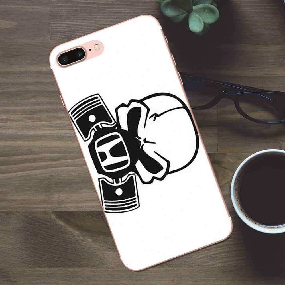Capa tpu para smartphones apple iphone, case protetor, para iphone 4, 4S, 5, 5c, se, 6, 6s, 7, 8, plus, x logotipo mugen power honda para galaxy, a3 a5 j1 j2 j3 j5 j7 2017