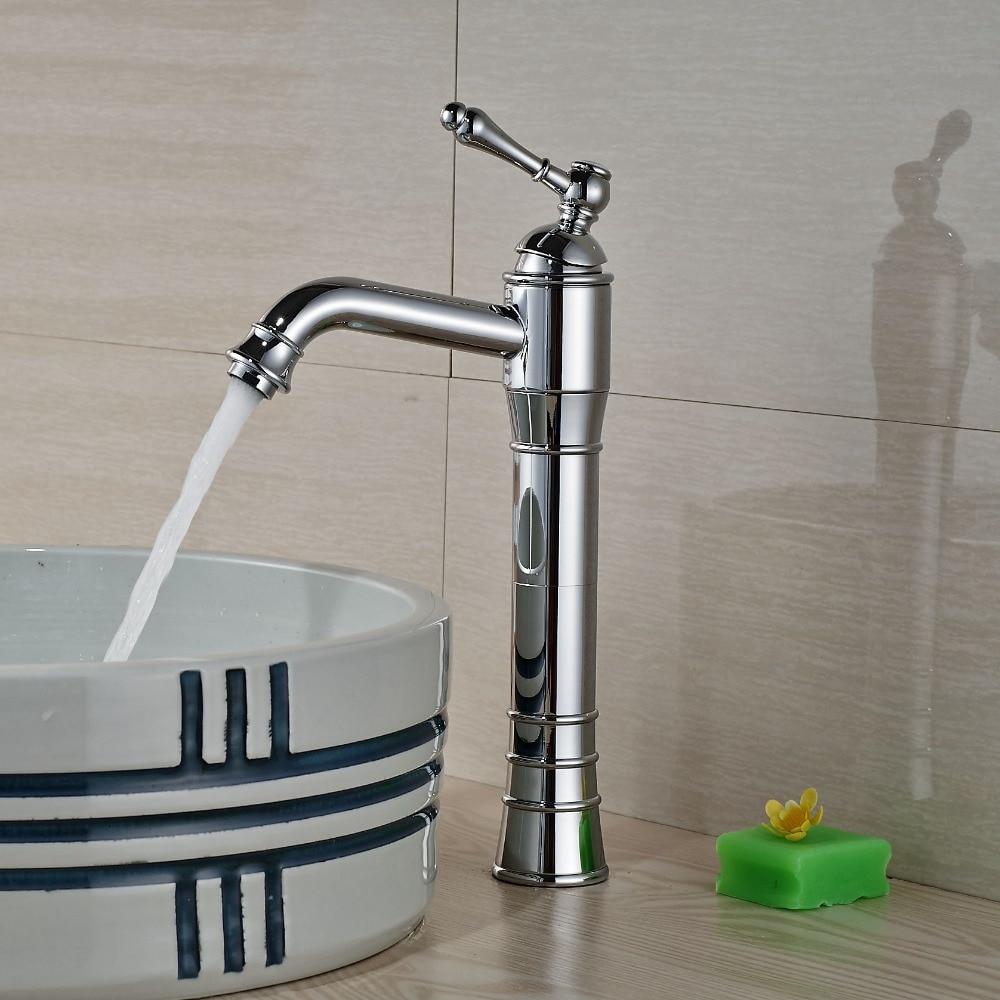 Brass Single Handle Bathroom Faucet : ... single handle chrome brass bathroom basin faucet single handle hole