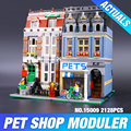 LEPIN 15009 Creador Creador City Street Pet Shop Kits de Edificio Modelo Bloques de acción ladrillos del juguete del bebé 10218