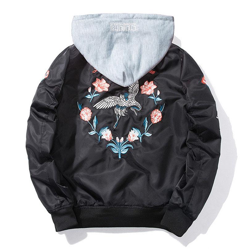 Aolamegs Bomber Jacket Japanese Embroidery Thin Men's Jacket Couple Hip Hop Fashion Outwear Autumn Men Coat Baseball Jackets New (8)