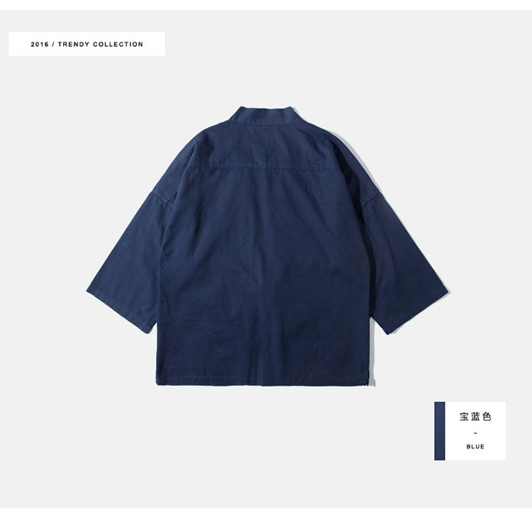 Kimono jacket mens japanese clothing fashion design harajuku street wear casual japan style outwear kanye west kimonos jackets (7)