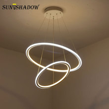 Ceiling Led Pendant Light For Kitchen Living room Dining room Bedroom Hanging Lamp Modern Led Ceiling Pendant Lamp White Lamp modern simple square led pendant light for dining room kitchen island foyer bedroom study stairs aluminum ring hanging lamp