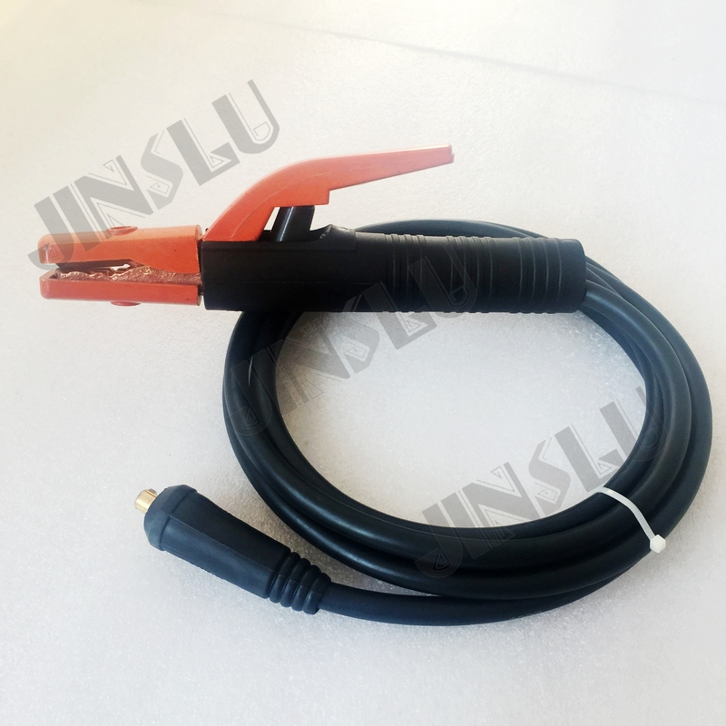 Welding Machine Accessories Electrode Holder 300A Arc Welding Lead Cable 3 Meter With DKJ10-25 Cable Connector