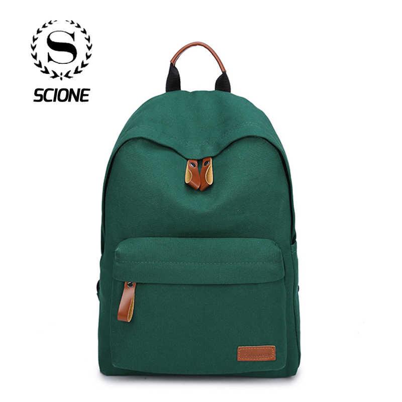 Scione женские мини сумки для путешествий для женщин 2019 однотонные холщовый мешок школьные сумки для девочек-подростков