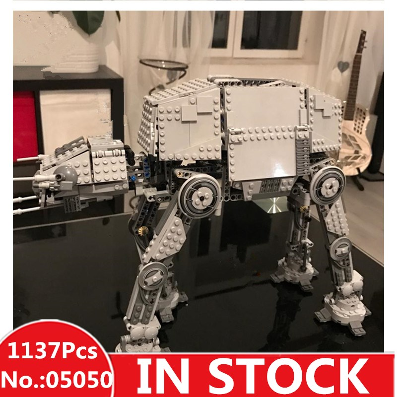 DHL H&HXY IN STOCK 05050 1137pcs Star Series AT-AT the Robot Electric Remote Control wars Building Blocks Toys 75054 Gift quality good engineer series motor driven remote control tuba excavating machinery e511 toys goods in stock without original box