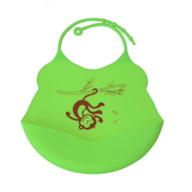 Silicone Baby Bib with Pocket