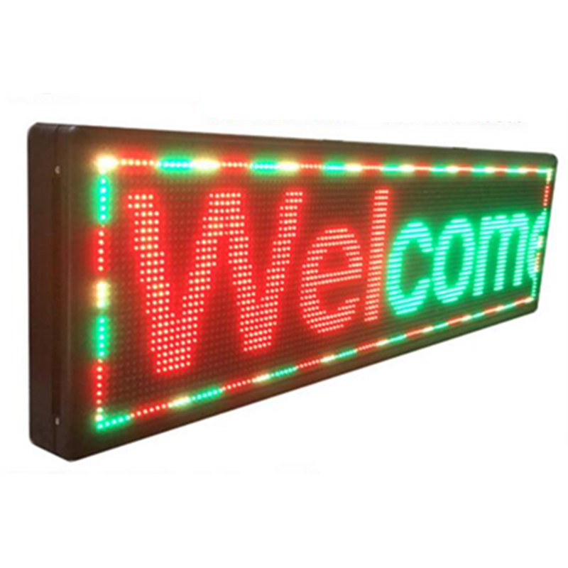 P10 outdoor 167X39cm led display programmable scrolling led sign suppliers