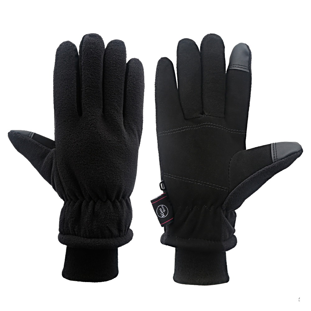 цена на KIM YUAN Winter Gloves - Cold Proof, 3M Thinsulate, Deerskin Suede Leather, Cold Weather Warm Gloves for Men & Women