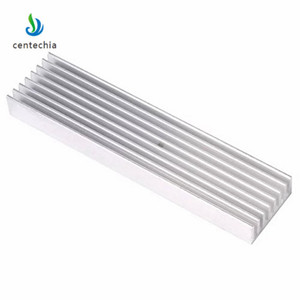 Image 2 - Durable Silver Aluminium Radiating Fin Cooling Heatsink 100*25*10MM for LED Power Transistor Electrical Radiator Chip