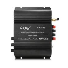 Lepy lp-269s HIFI Цифровой стерео Усилители домашние США Plug 2 канала мощный звук Совместимость с автомобилем мотоцикл компьютер динамик