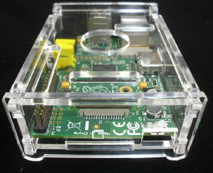 A52 raspberry raspberry pi shell transparent box to send the perfect size #D043