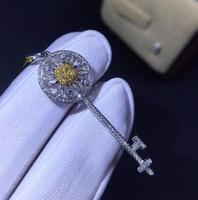 5d90c31403df Fine Jewelry 18K Gold AU750 G18K Natural 100 Nature Yellow Diamond Pendant  Gemstone Necklaces For Women. Joyería Fina 18 K oro ...