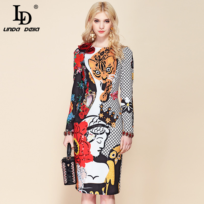LD LINDA DELLA Leopard Angel Vintage Dress 2019218