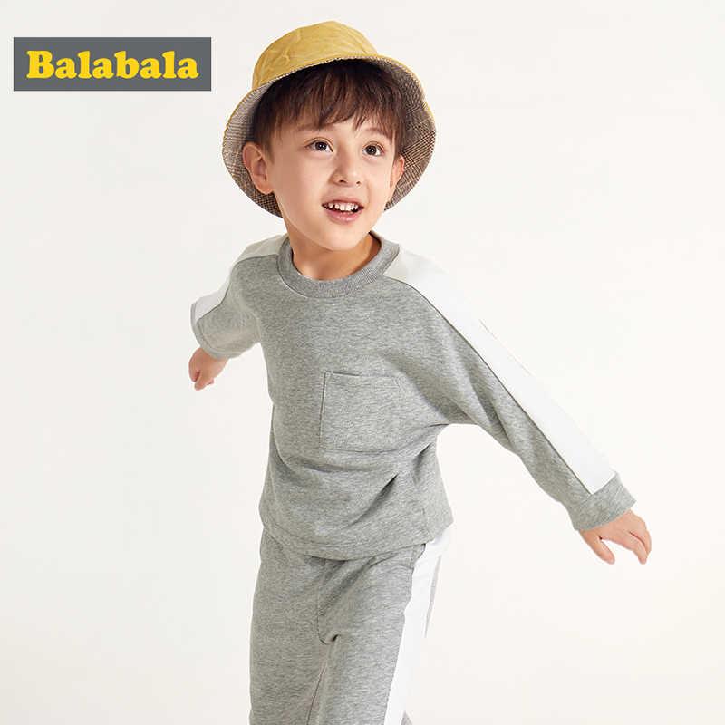 Balabala, ropa para niños, traje para bebés, primavera 2019, nuevo conjunto de ropa para niños, camisa suelta + Pantalones de chándal de algodón