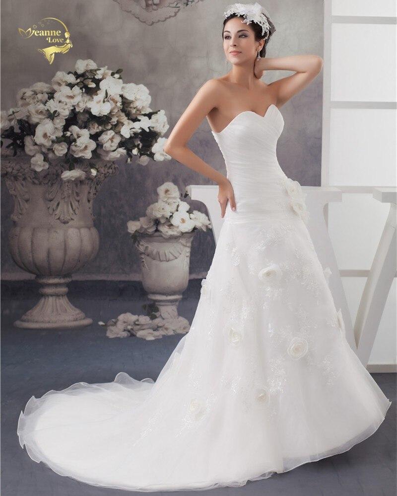2019 Bela Louisvuigon Vestido De Noiva Obleka De Mariage Poročna cvetlica A Linea Applique Poročne obleke 2019 Sweetheart YN 9509