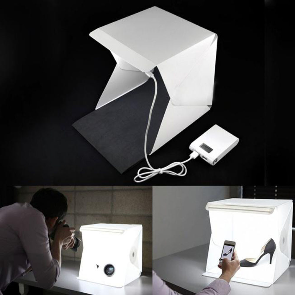 Light Room Photo Studio 9inch Photography Lighting Tent Kit Backdrop Mini Box high quality portable mini photo studio box photography backdrop built in light photo box