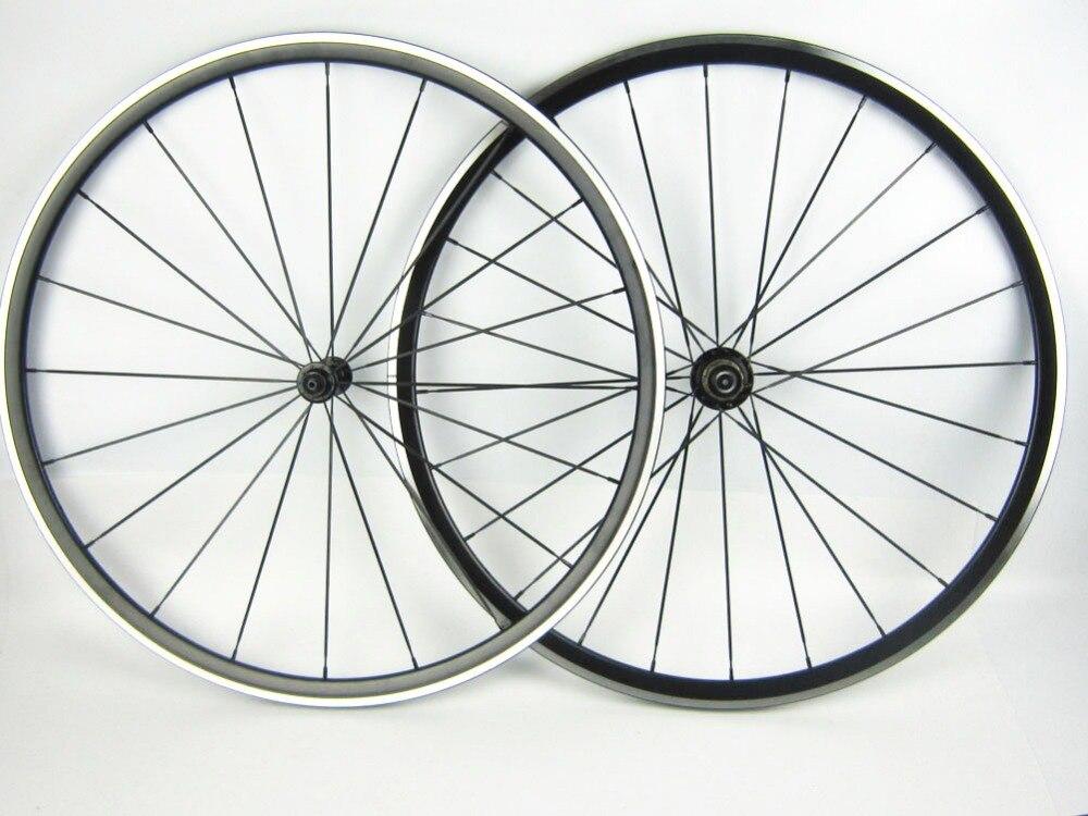 Gros pilier 1432 à rayons En Alliage vélo de route roue avec roulement hub 700C Kinlin XR 200 lumière poids anodisation noir