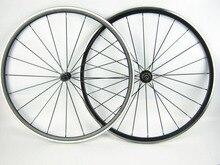 Pilar 1432 radios de Aleación al por mayor de 700C rueda de bicicleta de carretera con el eje del cojinete Kinlin XR 200 peso ligero anodizado negro