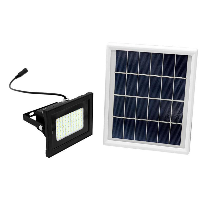 80 LED Dual Color Remote Solar Light Sensor Flood Spot Light Garden IP65 Outdoor Garden Corridor Park Corridor Security Lamp