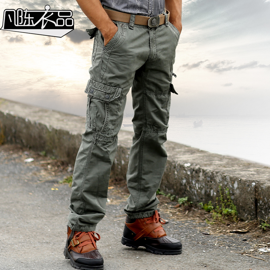 men military style cargo pants camo trousers army tactical