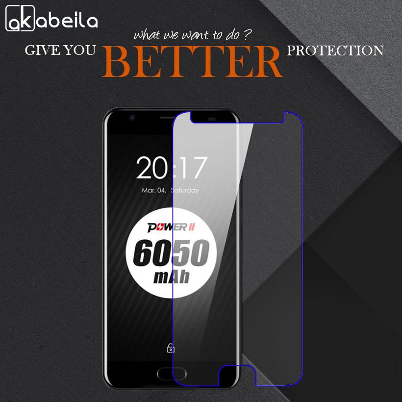 AKABEILA Tempered Glass Temperli Cam Steel Wholesale For Ulefone Power 2 5.5 inch Phone Screen Protective