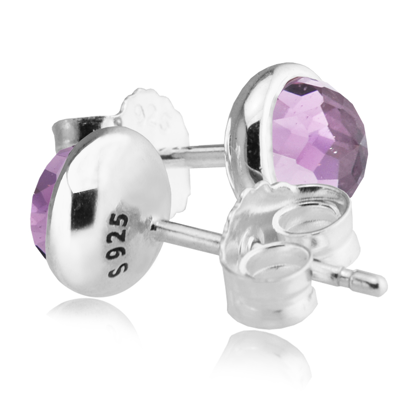 Únorové kapičky náušnice s Ametyst 100% 925 Sterling Silver módní šperky Doprava zdarma