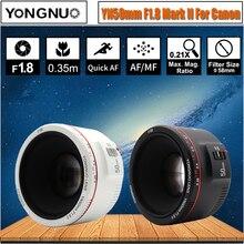 Белый YN50mm F1.8 II большая апертура Автофокус Объектив YONGNUO для Canon Bokeh эффект объектив камеры для Canon EOS 70D 5D2 5D3 DSLR