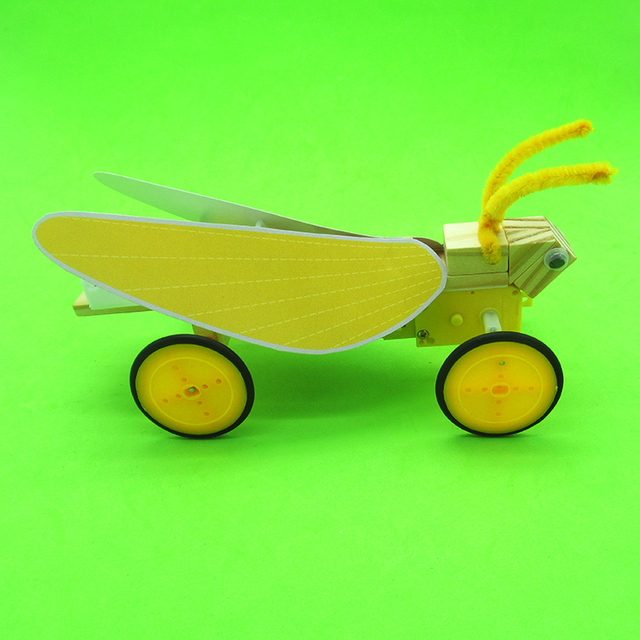 1 Juego de fabricación de tecnología Manual de bricolaje Mini Modelo Eléctrico de coches de juguete