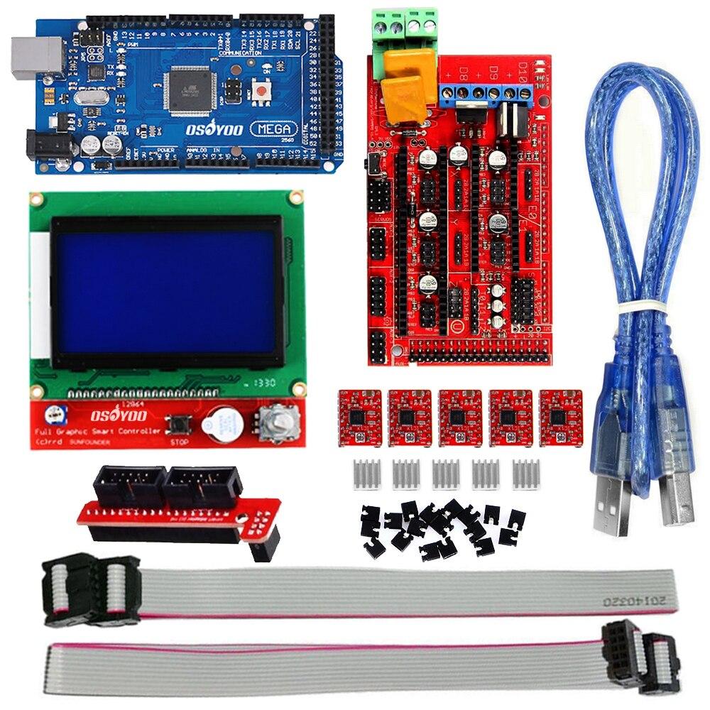 Mega 2560 3D Printer Electronics Kit Ramps 1.4 /& A4988 Drivers RepRap