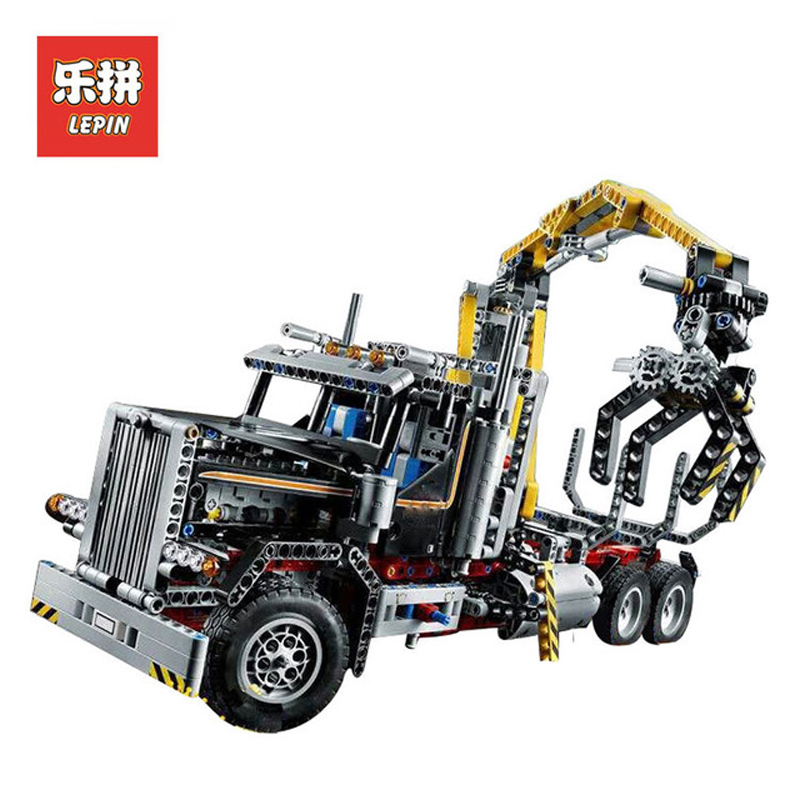 In Stock Lepin Sets 20059 1338Pcs Technic Figures Logging Truck Model Building Kits Blocks Bricks Educational Kid Toys 9397 Gift in stock dhl lepin set 21010 914pcs technic figures speed champions f14 model building kits blocks bricks educational toys 75913