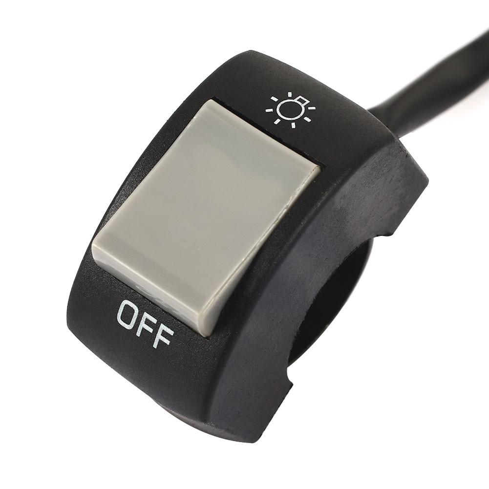 Огни выключены Универсальные мотоциклы переключатель противотуманных фар рычаг управления мотоциклом прочный точечный свет - Цвет: gray